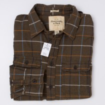 Abercrombie & Fitch Check Flannel Shirt Men's 2XL - XXLarge
