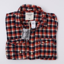 Abercrombie & Fitch Plaid Flannel Shirt Men's 2XL - XXLarge
