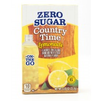 Country Time Lemonade Zero Sugar On The Go 6 Single Serving Packets (net wt. 0.83 oz)