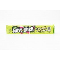 Now and Laters Extreme Sour Mixed Fruit Chews net wt 2.44 oz