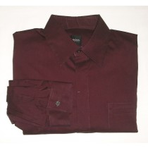 Boss by Hugo Boss Solid Maroon Shirt - Large