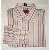 Hugo Boss Red Label Pink Striped Dress Shirt - Medium