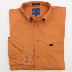 Faconnable Orange Button-Down Shirt Men's M - Medium