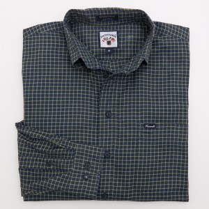 Faconnable Plaid Twill Shirt Men's M - Medium