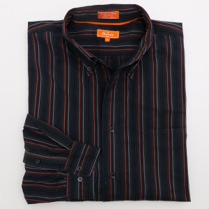 Faconnable Jeans Striped Button-Down Shirt Men's XL - Extra Large
