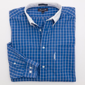Faconnable Check Dress Shirt Men's 3 - 15.5 R - Regular