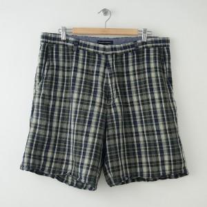 Banana Republic Plaid Linen Shorts Men's Size 38
