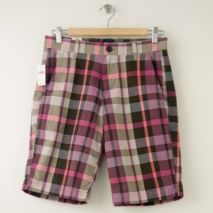 """NEW Gap Flat Front 10"""" Jackson Plaid Short in Dried Berry"""