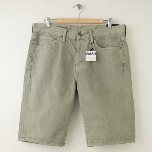 NEW Gap 1969 Straight Fit Denim Shorts in Desert Sage Men's 33