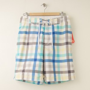 NEW Old Navy Board Short Swim Trunks in Tattersall Check M - Medium