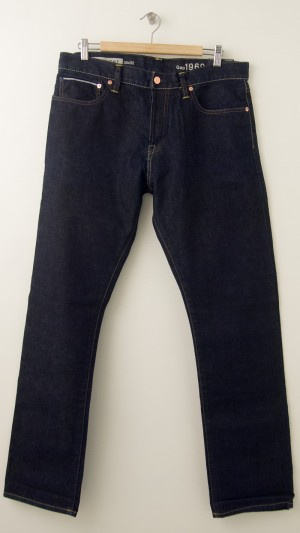 NEW Gap Men's 1969 Straight Red Line Selvage Jeans in Resin Rinse