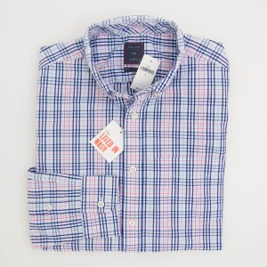Gap Lived-In Wash Windowpane Plaid Shirt in Men's Small
