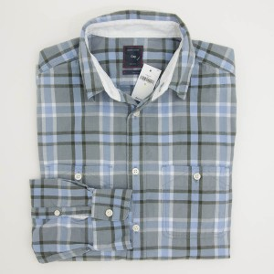 Gap Plaid Flannel Shirt in River Blue Men's Medium