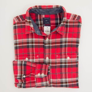 Gap Plaid Flannel Shirt in Bird of Paradise Men's Small