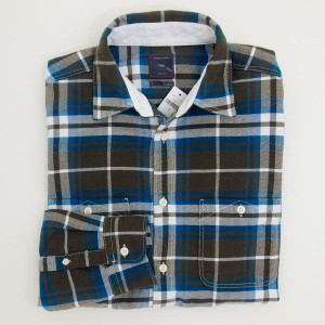 Gap Flannel Oversized  Plaid Shirt in Wet Moss Men's Small
