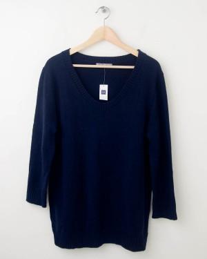 NEW Gap Solid Pullover Sweater in True Indigo Women's Large