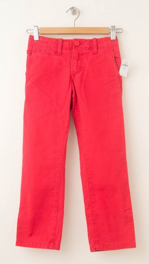 NEW GapKids Boy's Spring Straight Chino Pants in Coral