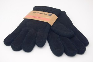 NEW Dockers Genuine Leather Fleece Lined PigSplit/Knit Combo Gloves in Black