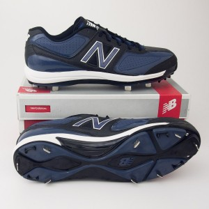 New Balance 3030 Low Cut Baseball Cleats MB3030LB in Black with Blue