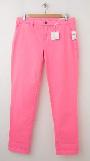 NEW Gap Neon Dye Broken-In Straight Khaki Pants in Diva Pink