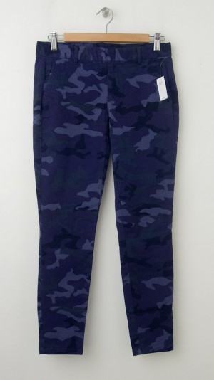 NEW Gap Skinny Mini Skimmer Khaki Pants in Blue Camo