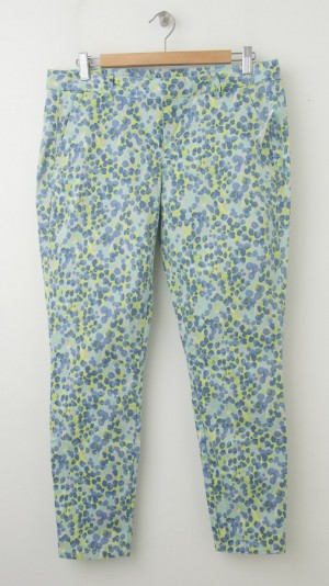 NEW Gap Skinny Mini Skimmer Khaki Pants in Multi Dots Print