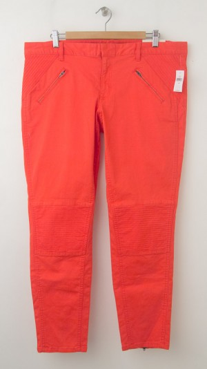 NEW Gap Skinny Mini Moto Skimmer Khaki Pants in Lava Orange