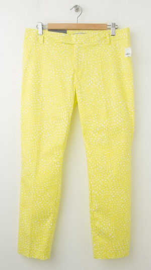 NEW Gap Slim Cropped Pants in Yellow Print