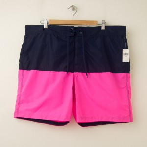 "NEW Gap The Modern Color Block 8"" Boardshort in Neon Double Pink"