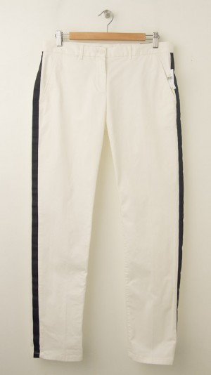 NEW Gap Broken-In Straight Tuxedo-Striped Khaki Pants in New Off White