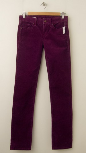 NEW Gap 1969 Real Straight Cords Corduroy Pants in Beach Plum