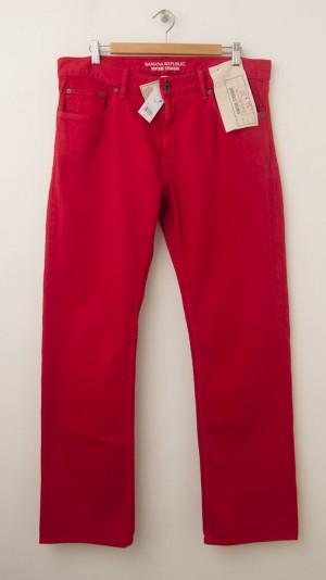 Banana Republic Vintage Straight-Fit Five-Pocket Pants in Tomato Paste
