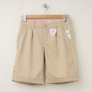 NEW GapKids Girl's GapShield Uniform Pleated Shorts in Wicker