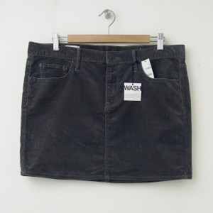 NEW Gap 1969 Cord Mini Skirt in Shark Fin
