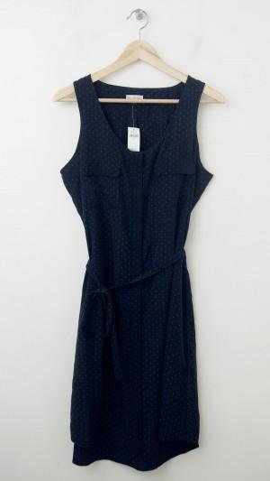 NEW Gap Printed Racerback Dress in Navy Dot