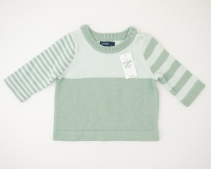 NEW babyGap Striped Colorblock Sweater in Sage Tint