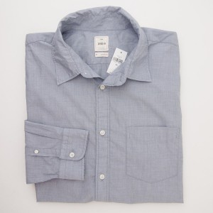 Gap Lived-In Wash Solid End-Over-End Shirt in Blue Chill