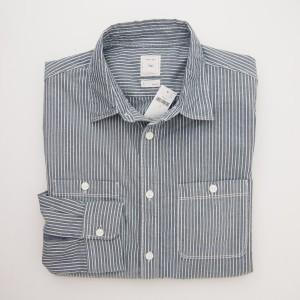 Gap Doby Stripe Shirt in Grey