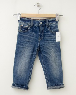 NEW babyGap Toddler Boy 1969 Faux Selvedge Original Fit Jeans in Medium Indigo