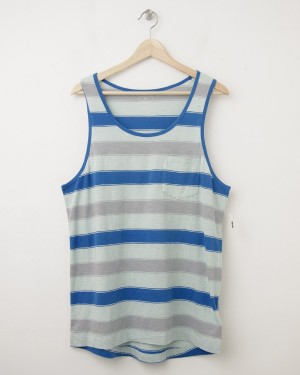 NEW Gap Lived-In Even Striped Tank in Blue Stripe