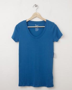 NEW Gap Women's The Favorite V-Neck Tee T-Shirt in Mascot Blue