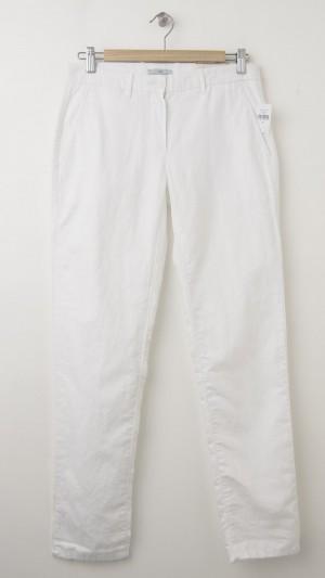 Gap Broken-In Straight Linen Pants in Optic White