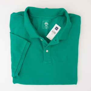 NEW Gap Modern Pique Polo Shirt in Blade Green