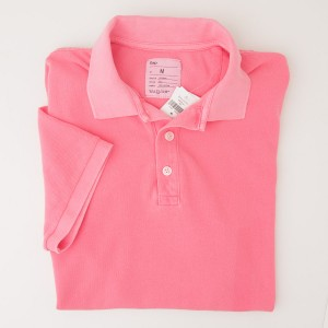 NEW Gap Sun Faded Slim Fit Pique Polo Shirt in Neon Coral
