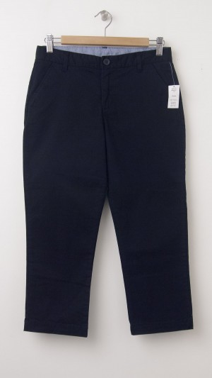 NEW GapKids Girl's Uniform Stretch Capri Pants in Deep True Navy
