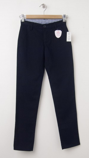 NEW GapKids Girl's GapShield Uniform Straight Khaki Pants in Deep True Navy