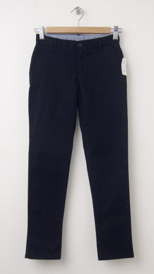 NEW GapKids Girl's Uniform Stretch Skinny Khaki Pants in Deep True Navy