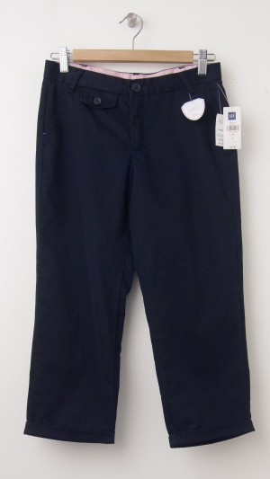 NEW GapKids Girl's Uniform Capri Pants in True Navy