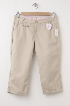 NEW GapKids Girl's Uniform Capri Pants in Wicker