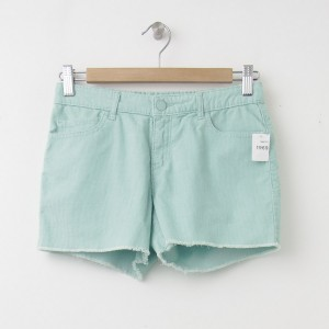 NEW GapKids Girl's Cord Cut-Off Shorties in Fantasy Aqua